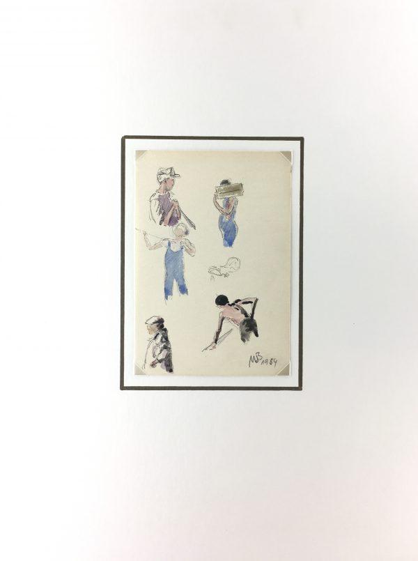 Figures Original Art - Drawings, Werner Bell (1895-78), C.1964