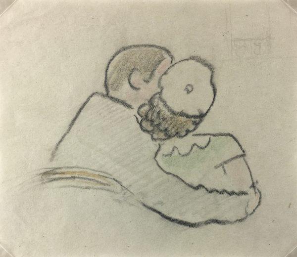 Figures Original Art - Le Couple, Gabriel Spat, C.1930