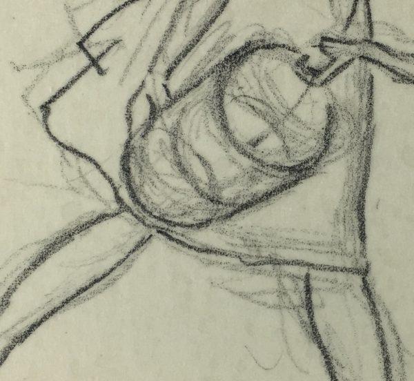 Figures Original Art - Drawing, Werner Bell, C.1960