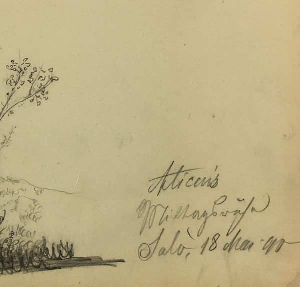 Figures Original Art - Alice Resting, E. Wollenweber, 1890