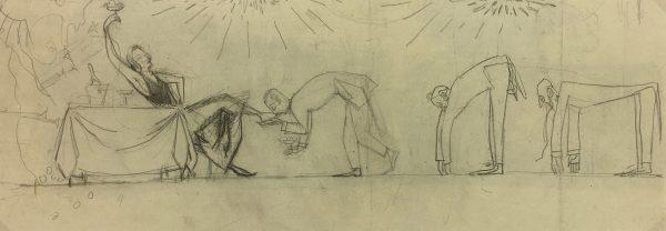 Figures Original Art - Admirers, Sach, C.1920
