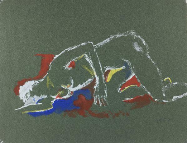 Figures Original Art - Nude, R.N., 1959