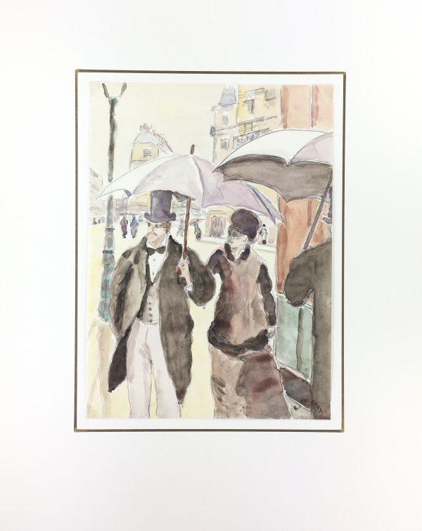 Figures Original Art - Uptown , R.Prigent, C.1950