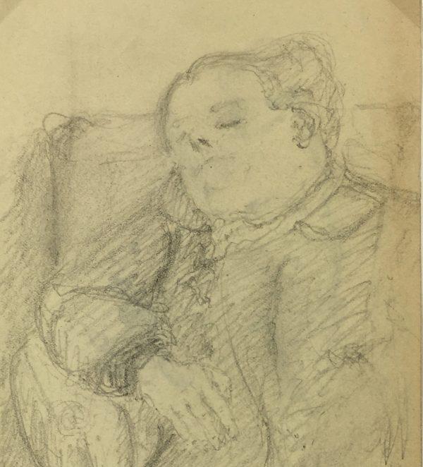 Figures Original Art - Sleeping, Emilie Cravoisier, C.1900