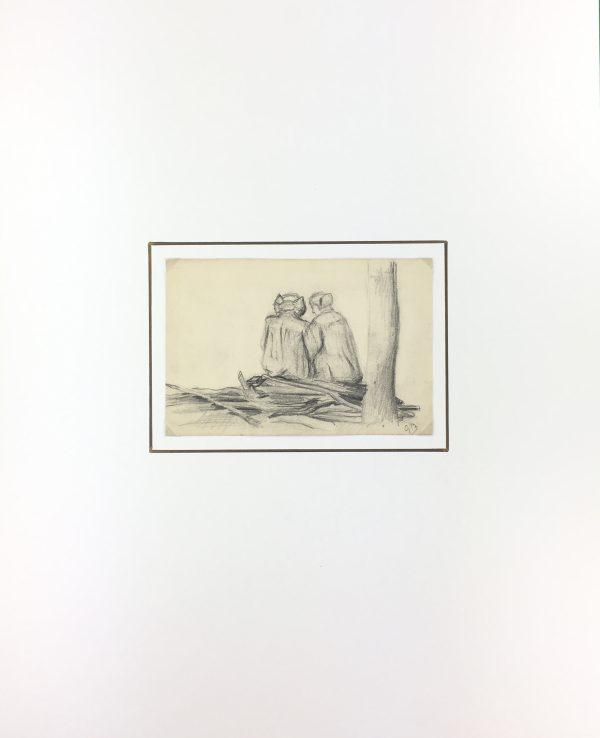 Figures Original Art - Barbier Drawing, Germaine Barbier, C.1915