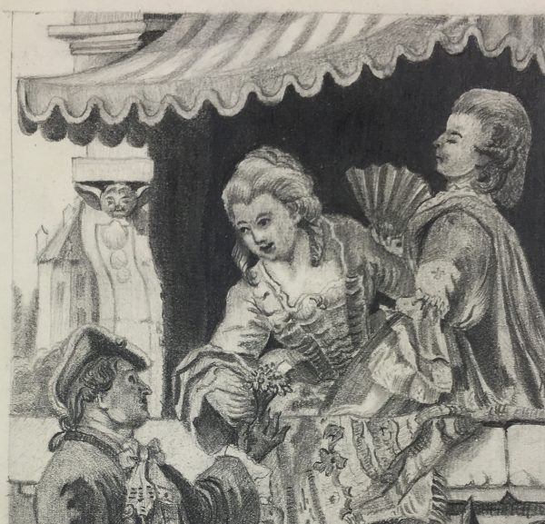 Figures Original Art - Gallant, 1890