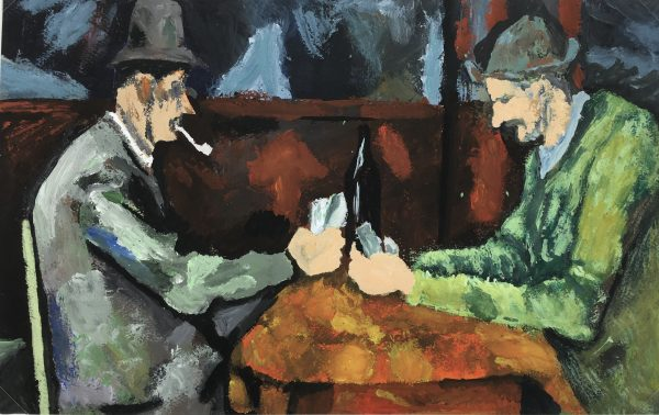 Figures Original Art - Card Players, After Cezanne, C.1950