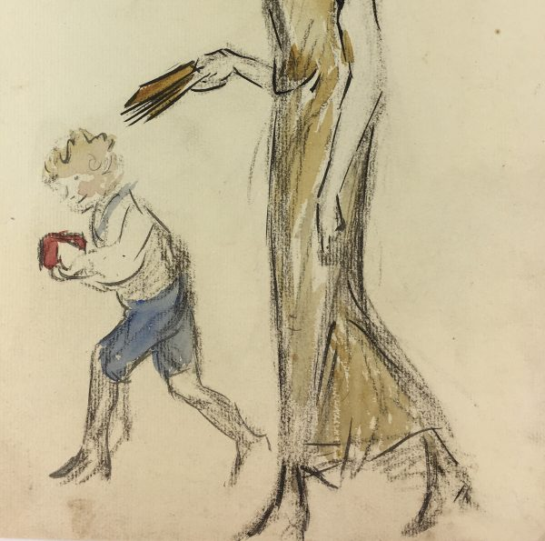 Figures Original Art - Mother and Child, C.1920