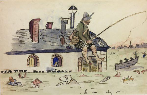 Figures Original Art - La mer chez sol, C.1960