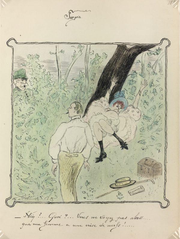 Figures Original Art - Surprise, 1895