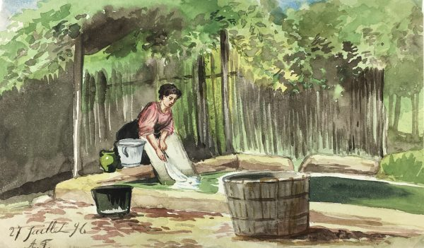 Figures Original Art - Washing Basin, 1896