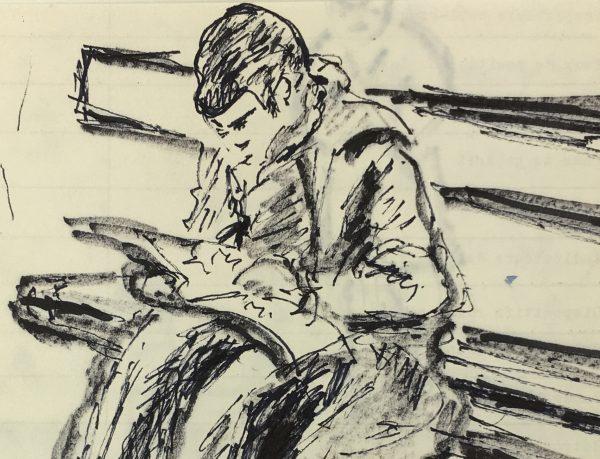 Figures Original Art - Reader, R. Prigent, C.1960
