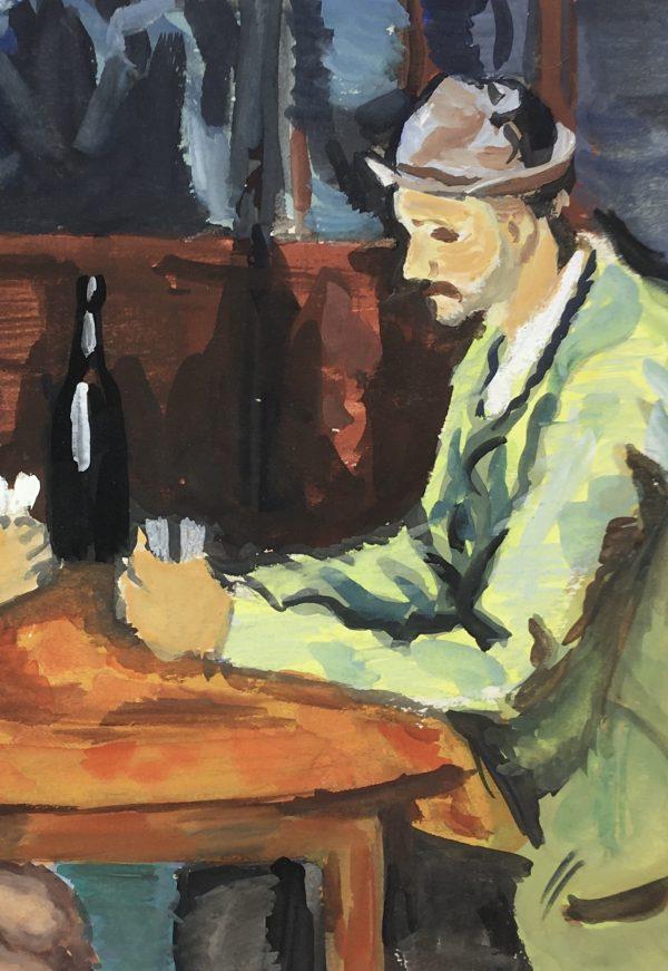 Figures Original Art - After Cezanne, Nestor, C.1950