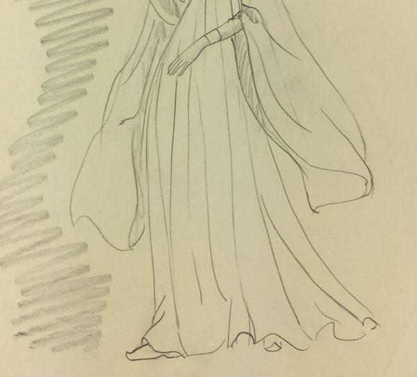 Figures Original Art - Pencil DrawingC.1940, Bataclan,