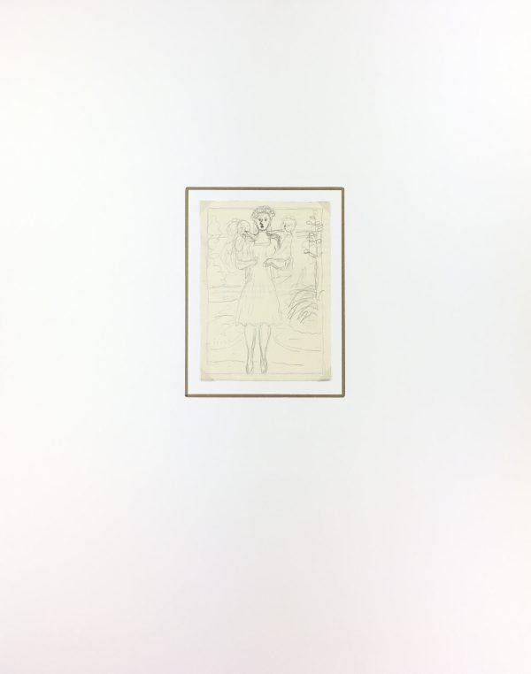 Figures Original Art - Mother, Albert viale, C.1940