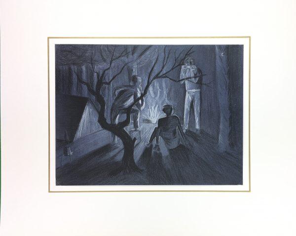 Figures Original Art - Campfire, Fillon, C.1960