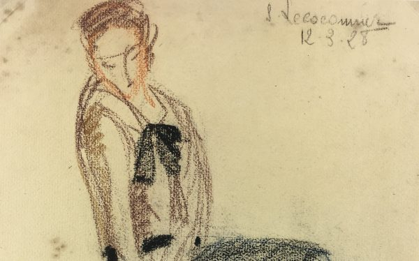 Figures Original Art - Contemplative, S. Lecoconnier, 1928