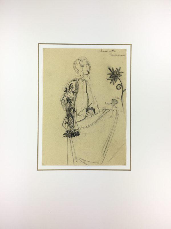 Figures Original Art - Renaissance Blouse, S. Lecoconnier, C.1925