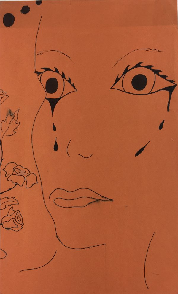 Figures Original Art - Tears and Mascara, C.1970