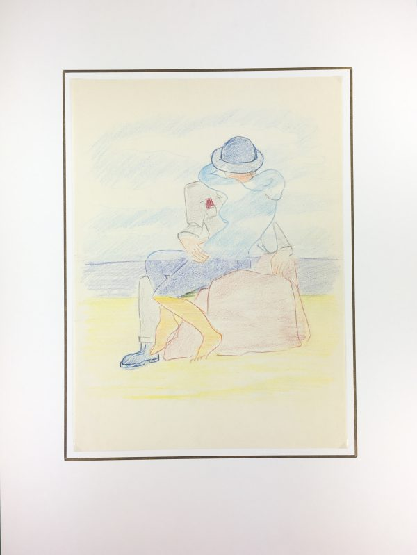 Figures Original Art - Kiss in TIme , Huber Dugon, C.1970
