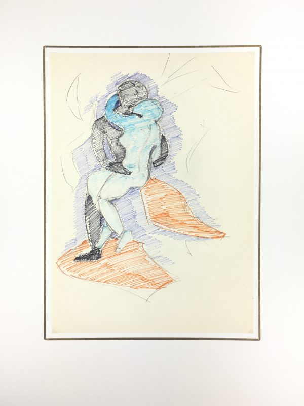 Figures Original Art - Kiss in Time, Hubert Dugon, C.1970