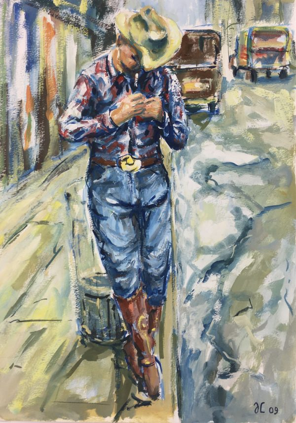 Figures Original Art - Cowboy, JC, 2009
