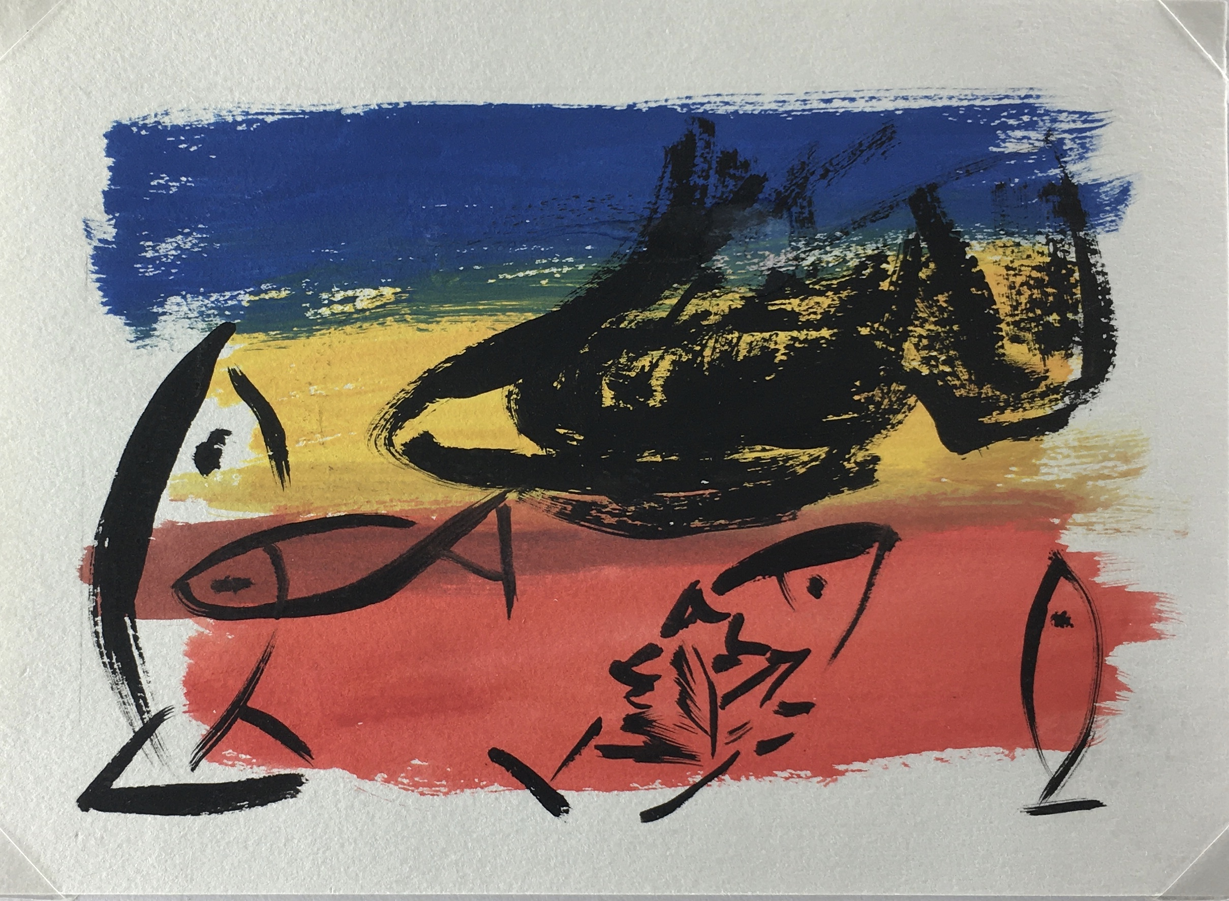 Animals Fish & Fishing Original Art - Tricolored Fish, 2000