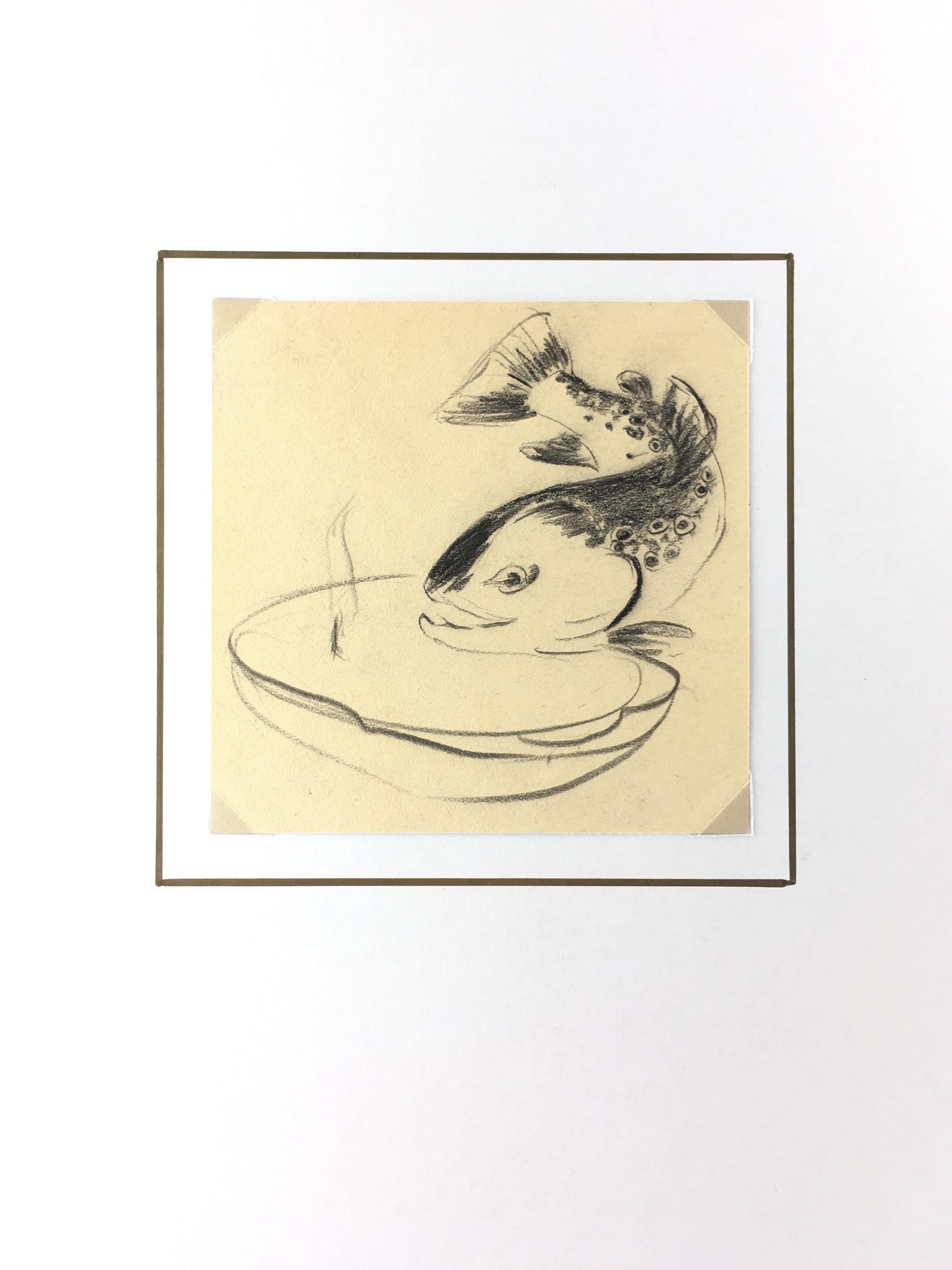 Animals Fish & Fishing Original Art - Fish, c.1960