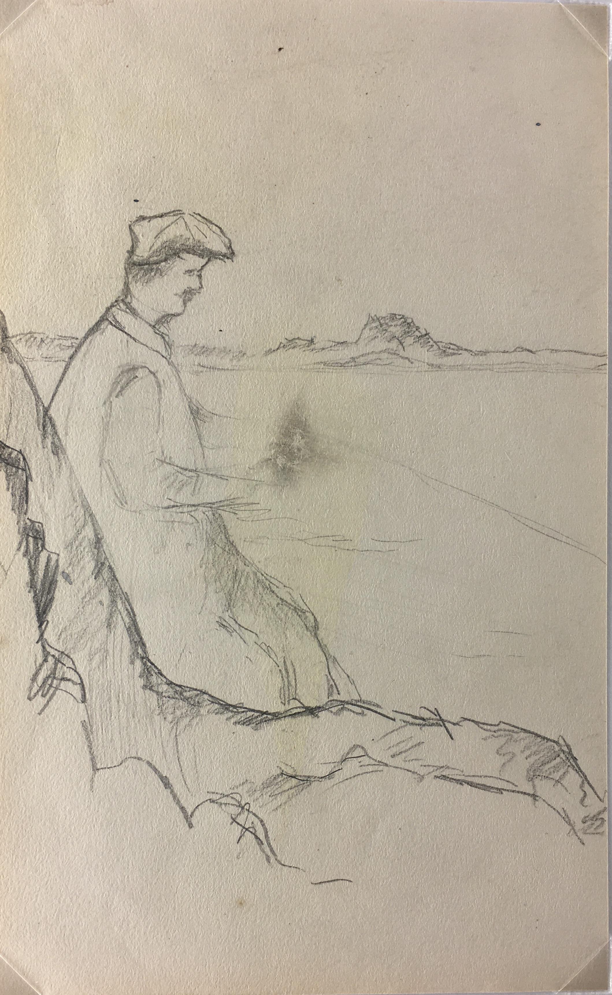 Animals Fish & Fishing Original Art - Fishermen, G. Jessing, c.1920