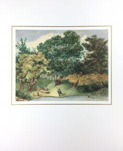 Animals Fish & Fishing Original Art - Bucolic Treescape, 1940