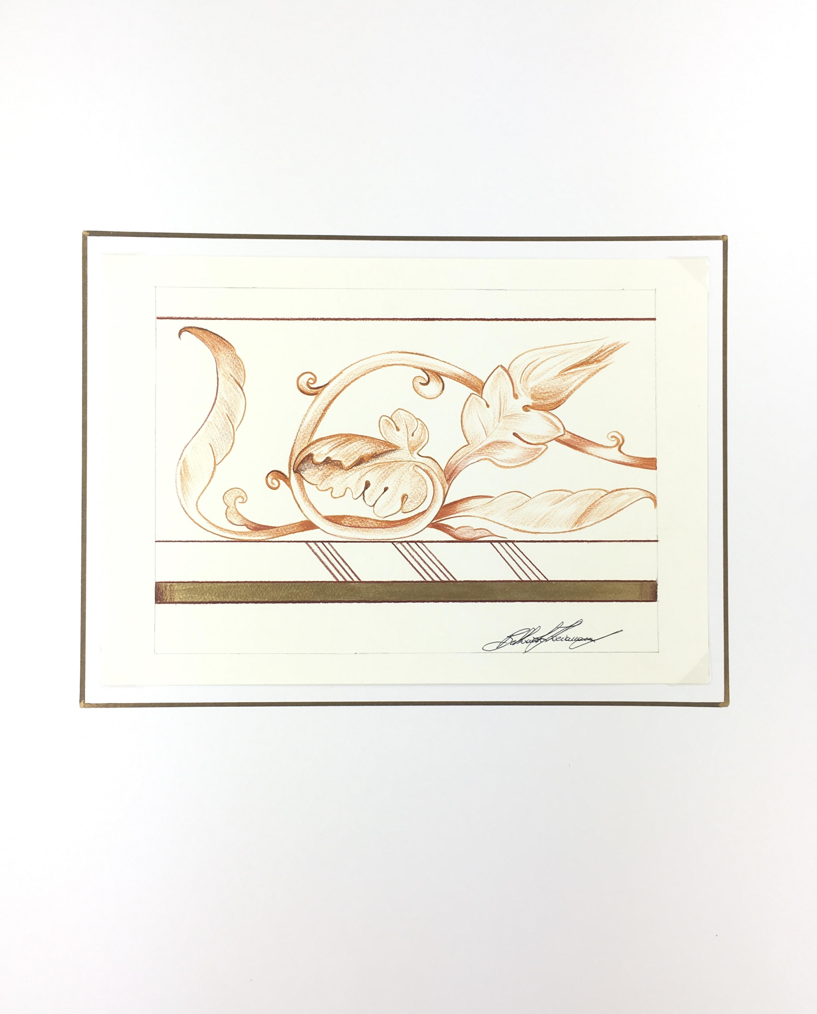 Italy Original Art - Tuscan Drawing, Florian Balluardo, 2012