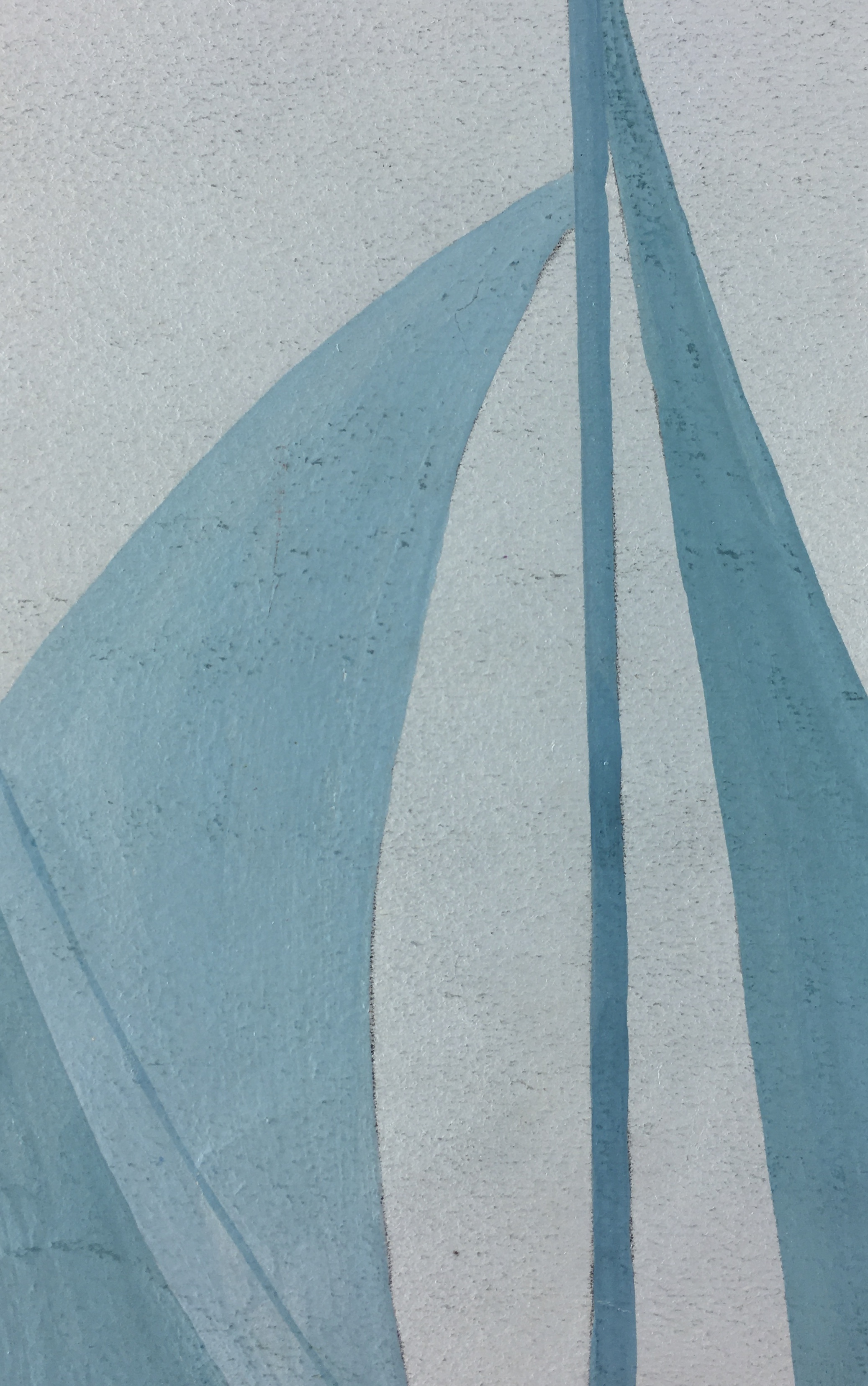 Maritime Original Art - Sails and Cattails, c.1960