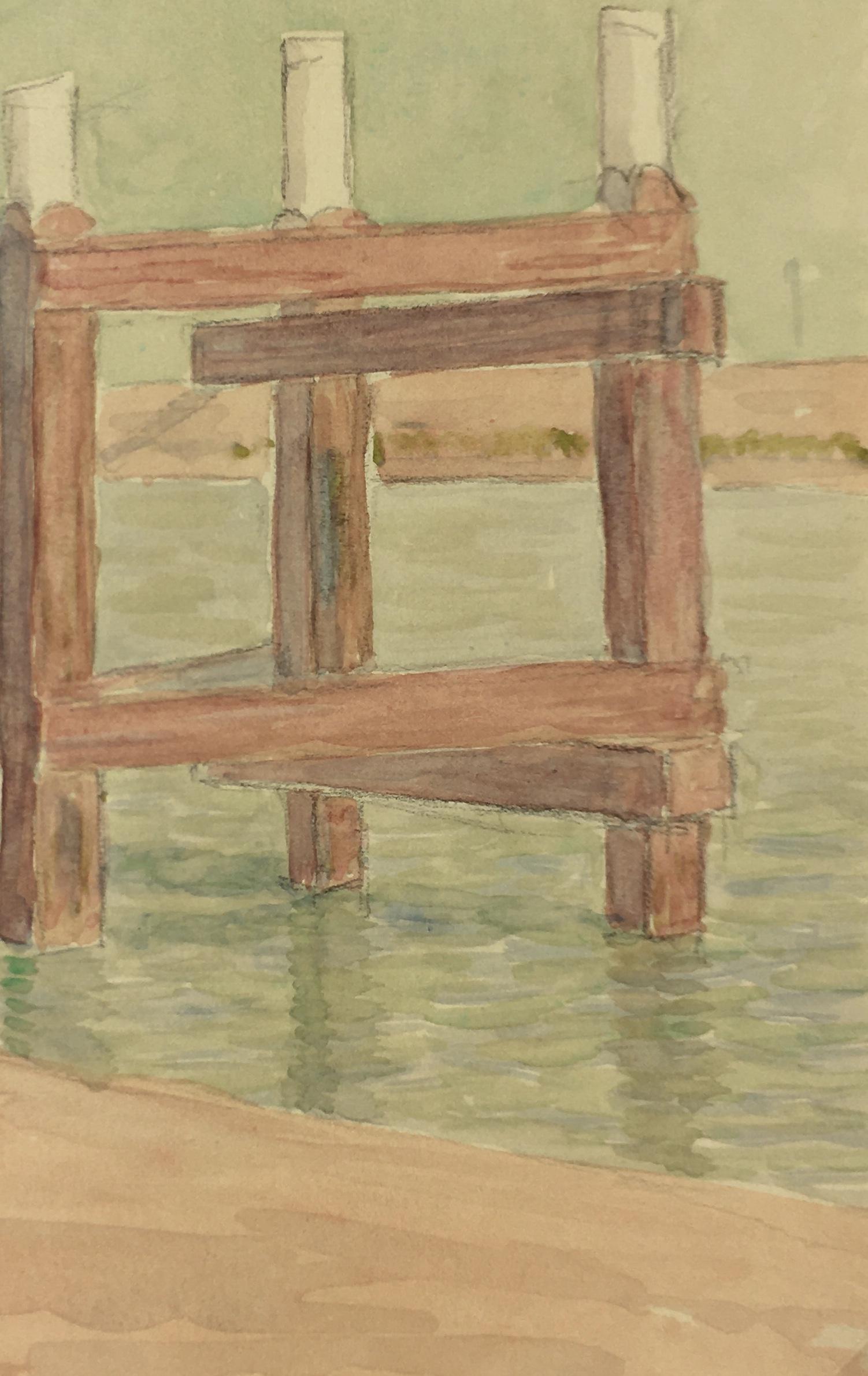 Maritime Original Art - Pier, 1934