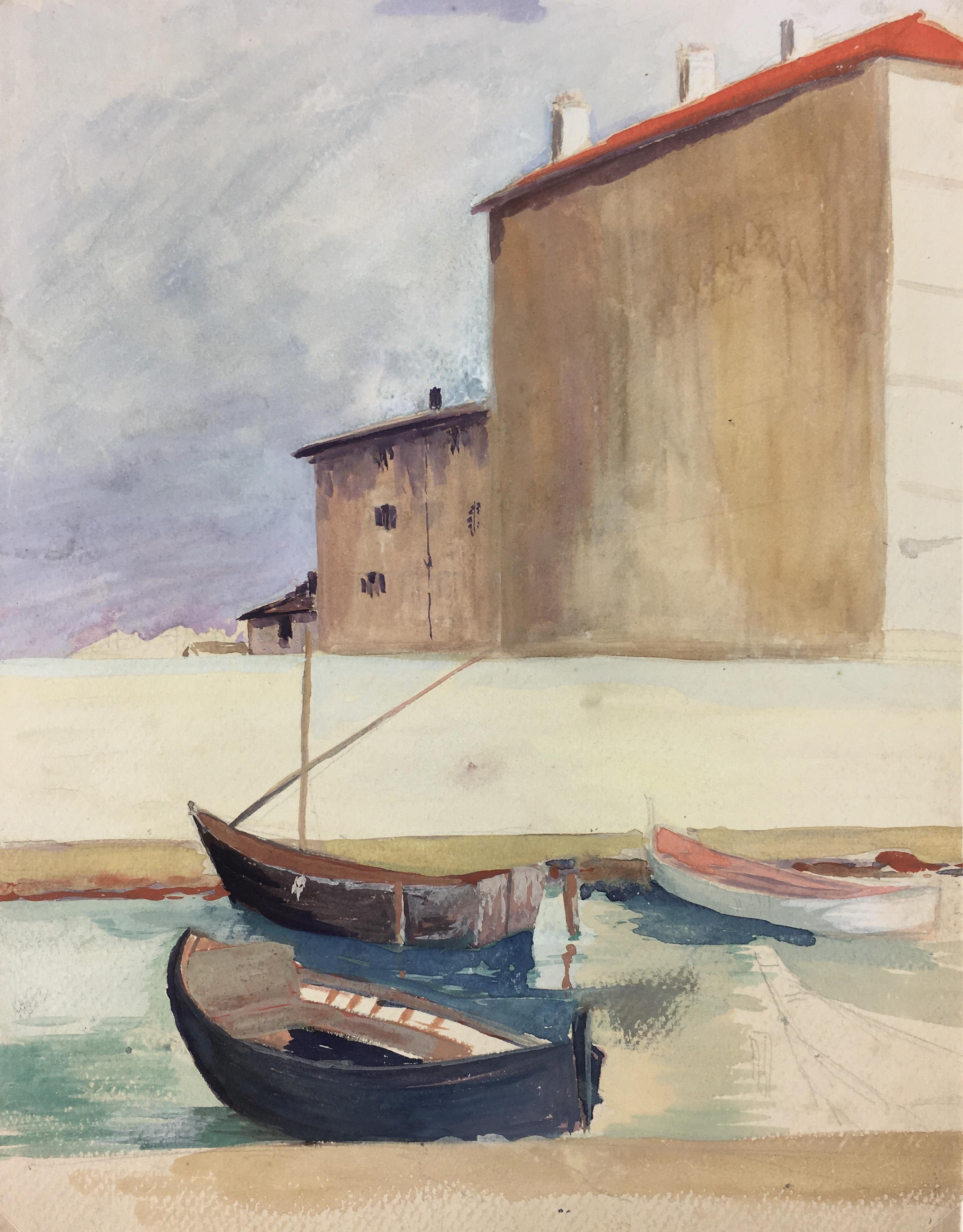 Maritime Original Art - Port Town, c.1970