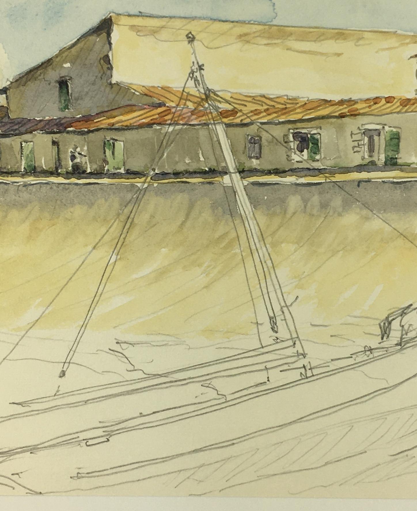 Maritime Original Art - Port, C. Groux, c.1940