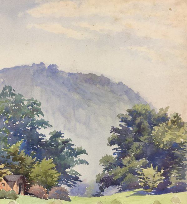 Mountains Original Art - Blue Mountain, Martha Wagner, C.1920