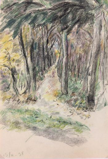 Paris, France Original Art - Forest, Gabriel Spat (1890-1967), C.1930