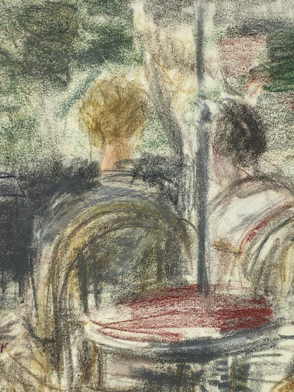 Paris, France Original Art - Paid Cafe, Gabriel Spat (1890-1967), C.1930