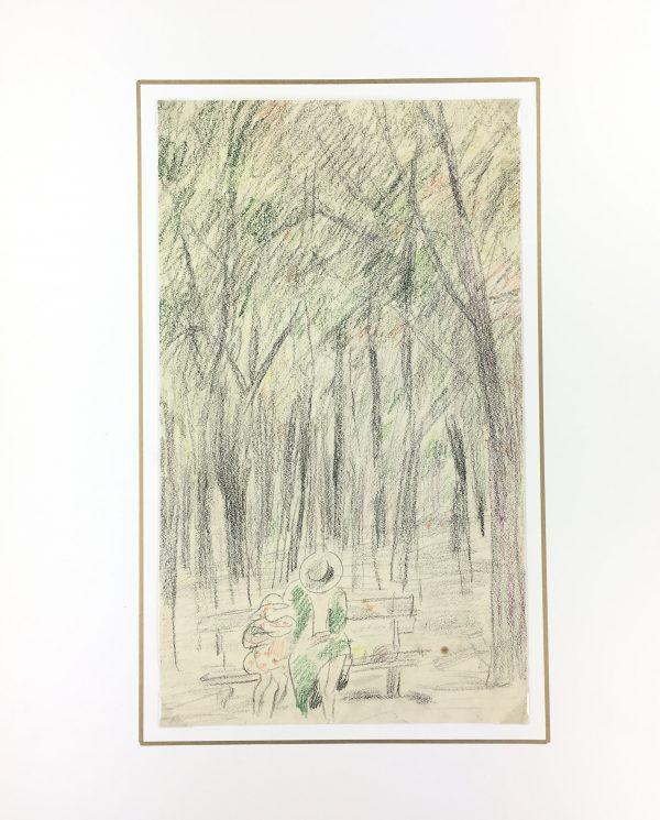 Paris, France Original Art - Paris Park, Gabriel Spat (1890-1967), C.1930