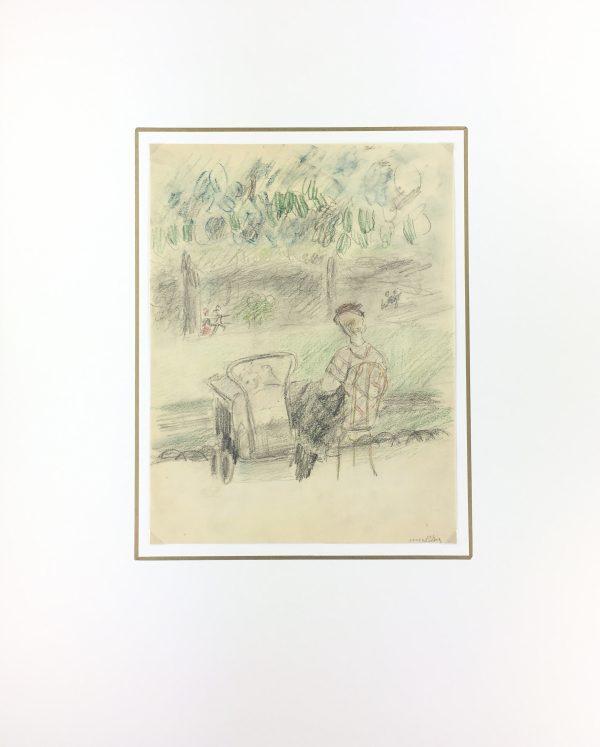 Paris, France Original Art - Paris Garden, Gabriel Spat (1890-1967), 1929