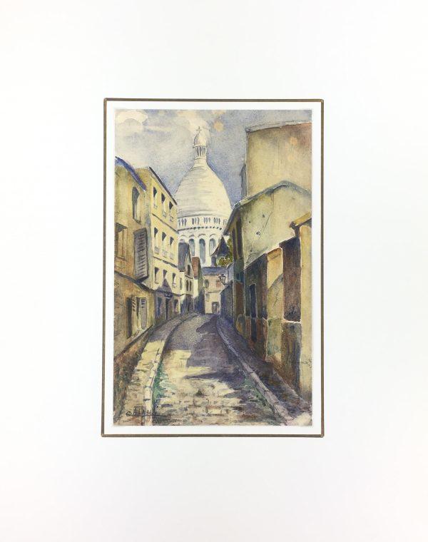 Paris, France Original Art - Montmartre, Calami, C.1930