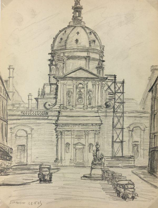 Paris, France Original Art - Paris Sorbonne, VB, 1935