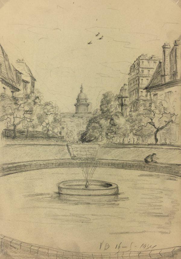 Paris, France Original Art - Paris, VB, 1934