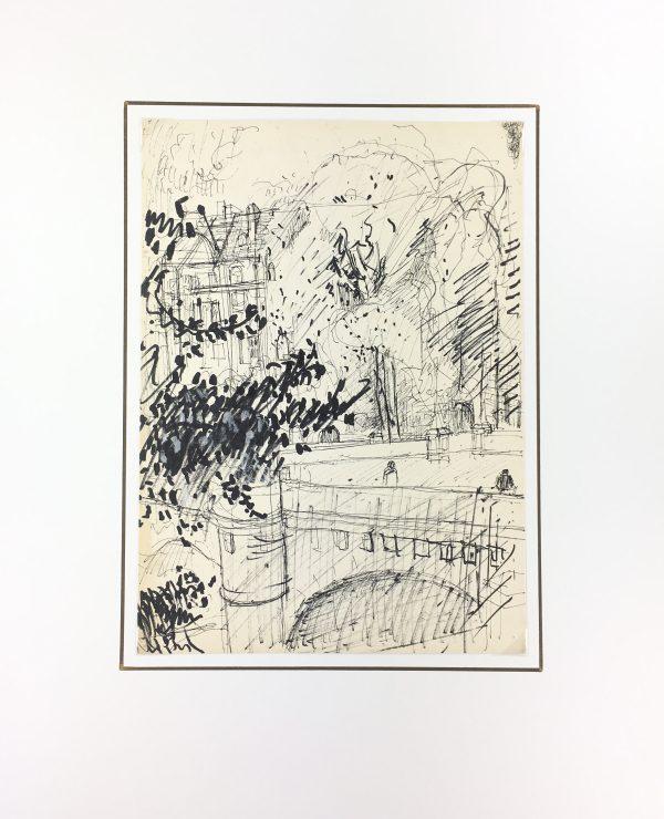 Paris, France Original Art - Paris, Kei Mitsuuchi(1948-2001), 1990