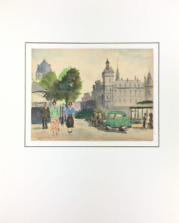 Paris, France Original Art - Pais, E. d'Orval, C.1930