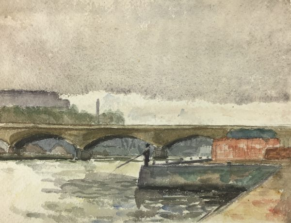 Paris, France Original Art - Paris Fisherman, C.1930