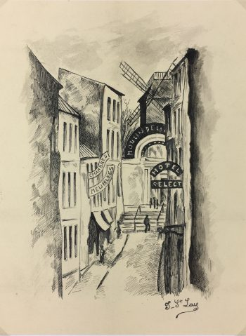 Paris, France Original Art - Ink - Paris, St. Lay, C.1950