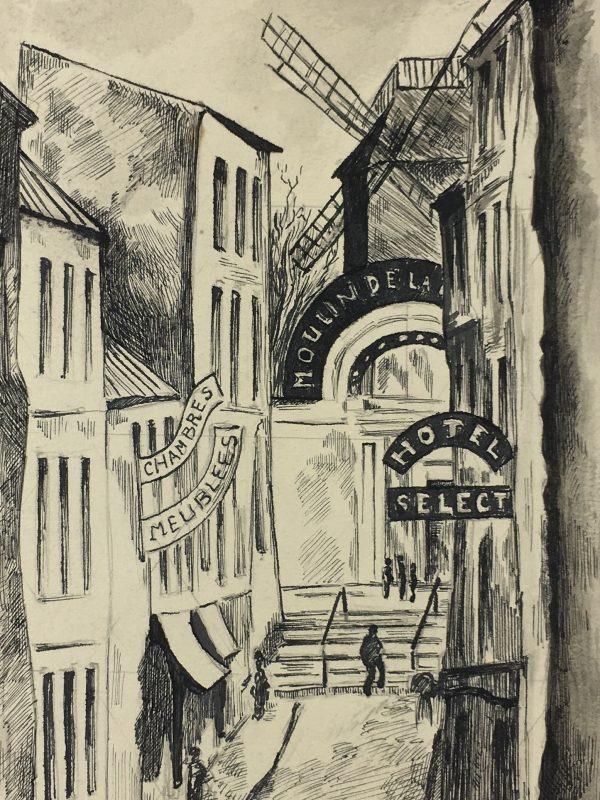 Paris, France Original Art - Ink - Paris, St. Lay, C.1950