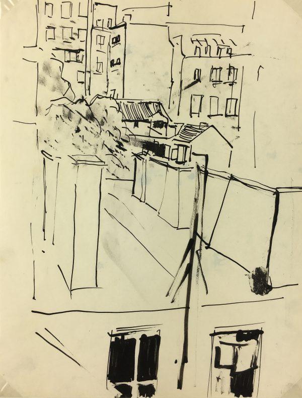 Paris, France Original Art - Paris, Kei Mitsuuchi(1948-01), 1990