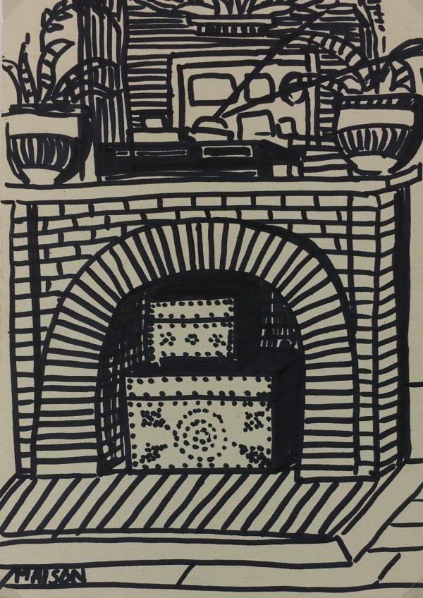Paris, France Original Art - Ink - Paris Life, C.1985